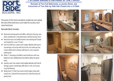 Bathroom and Laundry Room Remodeling Door County