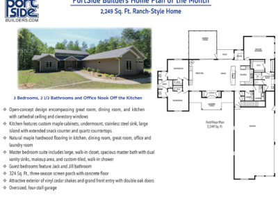 PortSide Builders Ranch Style Home Plan