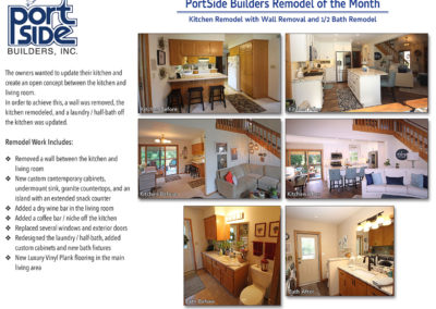 PortSide Builders Kitchen Remodel with Wall Removal