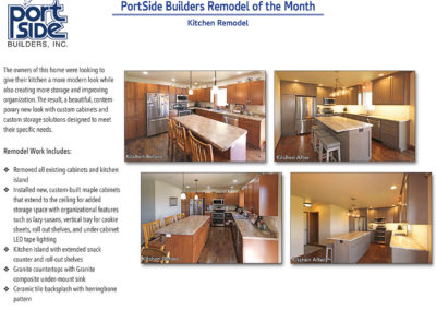 Kitchen remodel featuring more storage and organizational features.