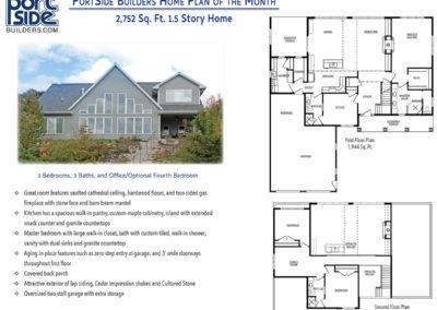 Custom built 2,700 sq. ft. 1.5 story home